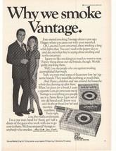 1972 Vantage Cigarette Advertisement - $16.00