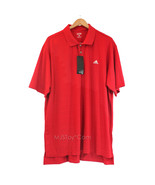 NWT Adidas Men Golf Polo Short Sleeve Shirt Athletic Red Size XXL - £26.72 GBP