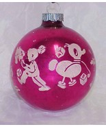 Vintage PINK Shiny Brite Glass STENCIL Ornament with CHILDREN'S TOYS - $14.99