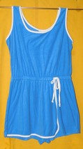 CW Classics Romper Blue Terrycloth Beach Cover Up Skorts Size: 2X Plus