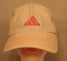 Adidas White Orange embroidered stitching logo Adjustable Dad Trucker Ca... - $39.95