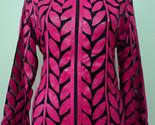 Nk leather leaf jacket women design 04 genuine short zip up light lightweight xl 1 thumb155 crop