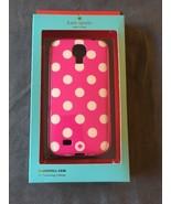 Kate Spade Samsung Galaxy S4 Hardshell Case Pink White Polka Dot New - $10.00