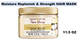 CREME OF NATURE PURE HONEY MOISTURE REPLENISH & STRENGTH HAIR MASK 11.5 OZ - $7.12