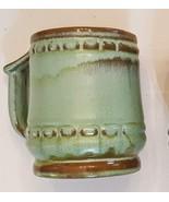 Frankoma Plainsman Barrel Mug Prairie Green Brown Glaze Pottery C10 Coff... - $29.68