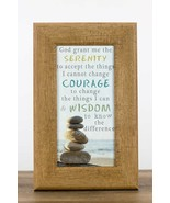 SERENITY PRAYER Inspirational Wall Print in Wood Frame - $38.00