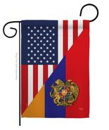 Armenia US Friendship - Impressions Decorative Garden Flag G158482-BO - $19.97