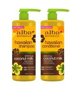 Alba Botanica Hawaiian Drink It Up Coconut Milk Shampoo & Conditioner 32... - $33.99