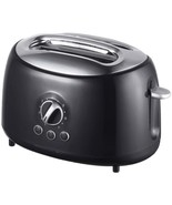 Brentwood Appliances TS-270BK Cool-Touch 2-Slice Retro Toaster with Extr... - $39.06