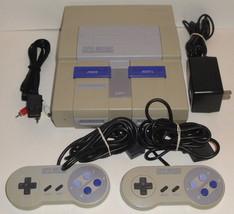 SNES CONSOLE BUNDLE SNS-001 2 Controllers Cords Lot Super Nintendo Set S... - $96.57