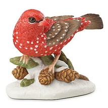 Lenox 2016 Strawberry Finch Bird Figurine Annual Garden Christmas Gift COA NEW - $47.47