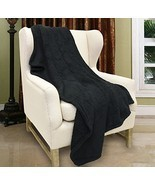 "Tirrinia Sherpa Throw Blanket Black 50"" x 60"", Fuzzy Couch Throw, Lightw... - $18.91"