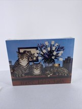 Three Tabby Cats Puzzle Susan Powers 18 x 24 550 Pieces 1992 Factory Sealed - $28.04