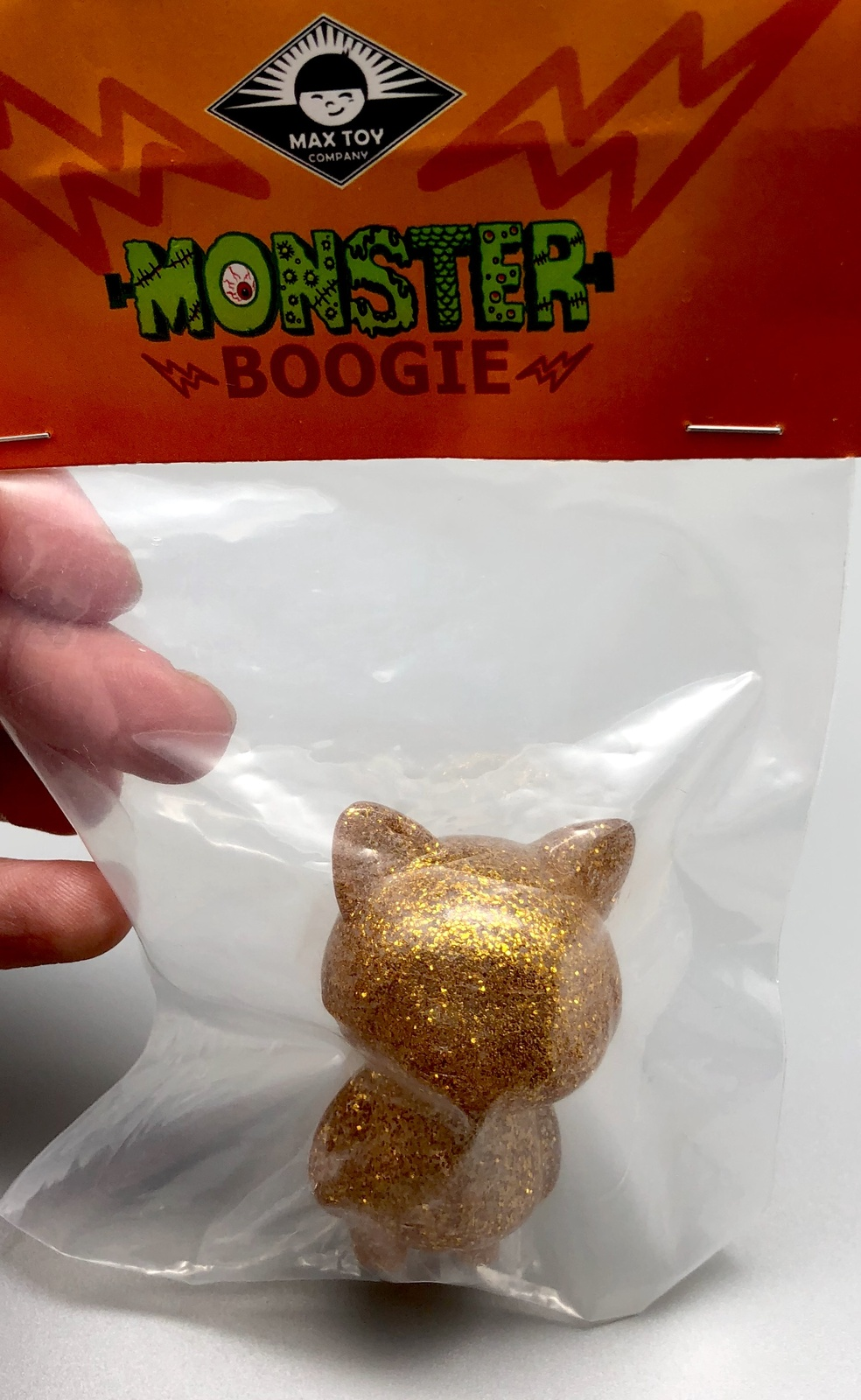 Max Toy Gold Glitter Mini Cat Girl - Mint in Bag