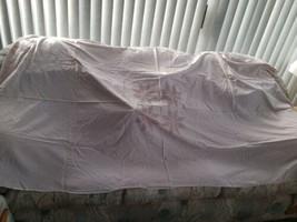 "Vtg Tablecloth Brown White Cotton Gingham Check Cross Stitch Star 86"" x ... - $14.84"