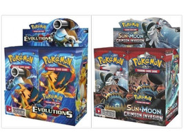 Pokemon TCG Crimson Invasion + Evolutions Booster Boxes Card Game Bundle Sealed - $214.99