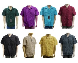 LOT OF NEW ASSORTED 8 WESTLINE MEN GUAYABERA CUBAN WEDDING BUTTON UP DRESS SHIRT