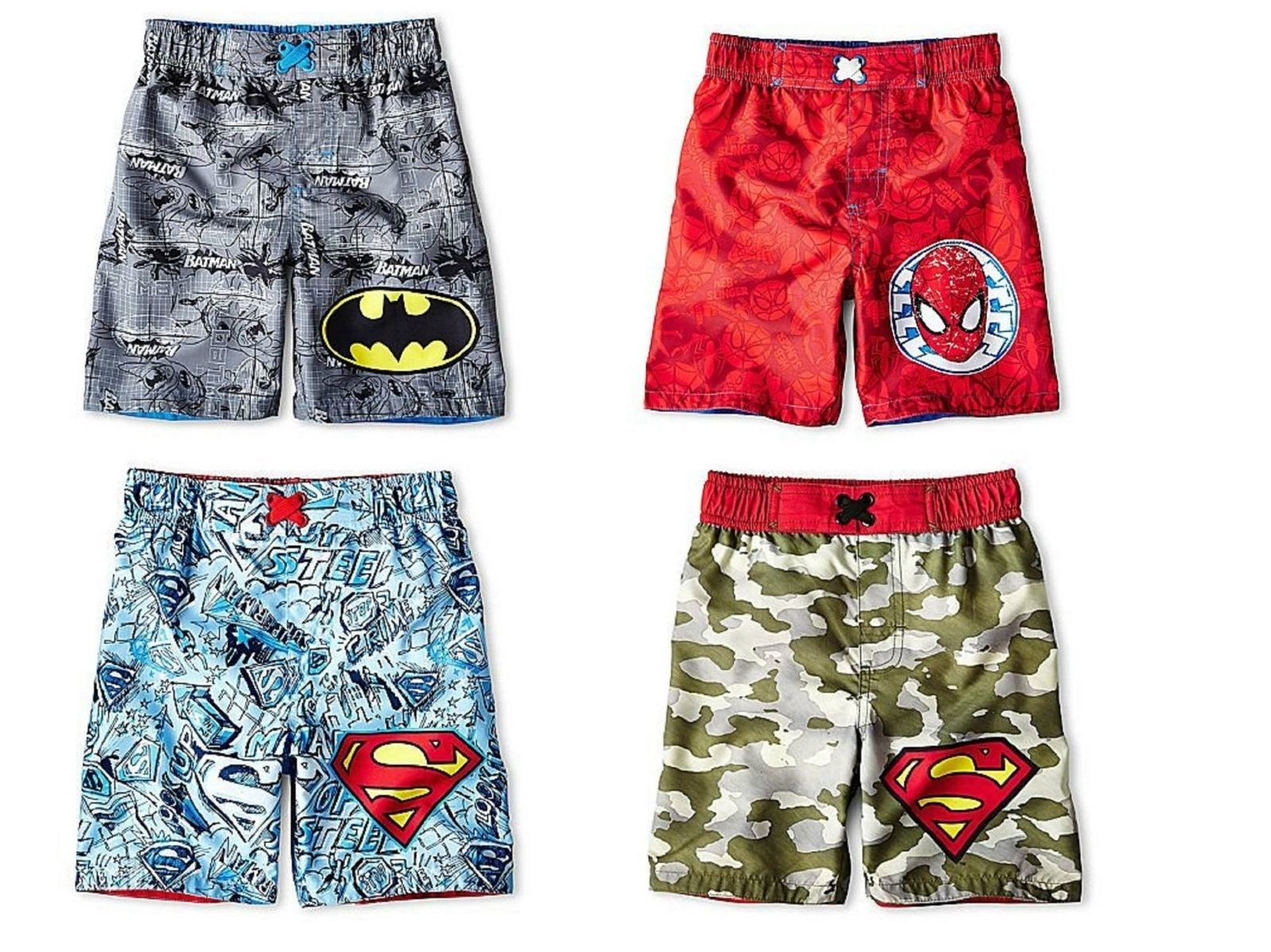 Infant Toddler Boy's Superhero Swim Bottoms Trunks Shorts Bathing Suit UPF 50+