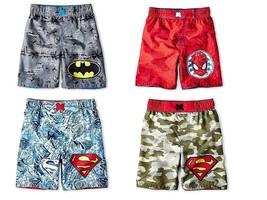 Infant Toddler Boy's Superhero Swim Bottoms Trunks Shorts Bathing Suit UPF 50+