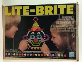Lite Brite Toy 5455 Style 03 With Guides and Pegs Hasbro Vintage 1981 - $62.32