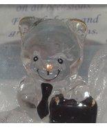 lovinbox Hand Sculpted Glass and 24 Kt Gold Bear Figurine- Salesman in G... - $10.77