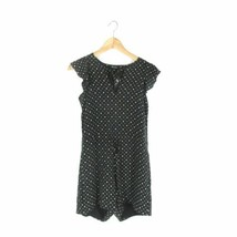 S - Madewell Black Silk Patterned $159 Open Back Petalplay Romper Outfit... - $43.05 CAD