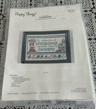 Brand New Patsy Moore Happy Things Counted Cross Stitch Kit Cookbooks 30... - $11.49