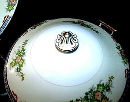 Tureen Serving Bowl with Lid AA18-1193G Vintage MeitoChina Hand Painted image 3