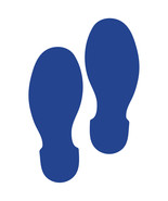 LiteMark 9 Inch Blue Removable Shoe Print Decals for Floors and Walls 12... - $19.95