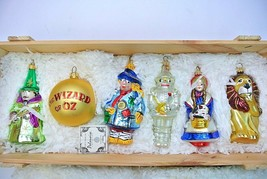 Komozja Polonaise The Wizard of Oz Glass Ornament 5 pc Set Kurt Adler Wo... - $159.99
