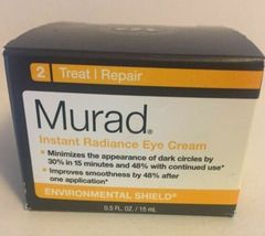 Murad Instant Radiance Eye Cream 0.5 fl oz New in box fresh - $32.36