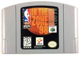 NBA In The Zone 1998 Basketball Cartridge Only Tested and Working Nintendo  - $7.87