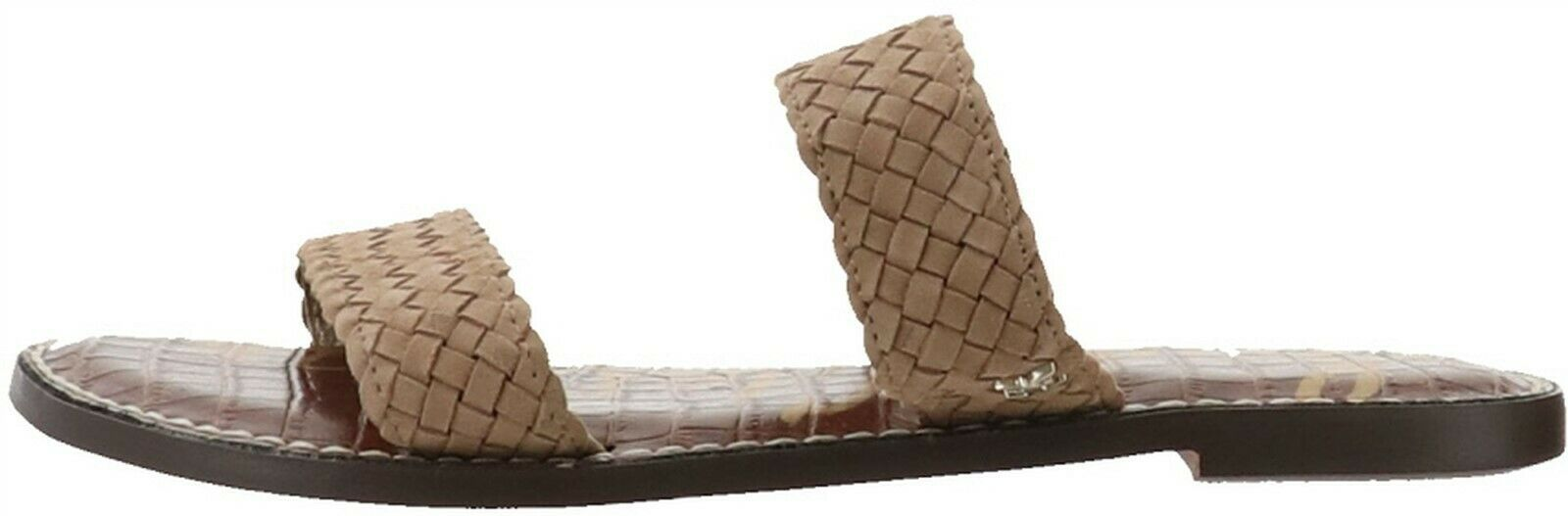 Sam Edelman Braided Double Strap Slide Sandals Gala 2 Oatmeal 8.5M NEW A365920 - $32.65