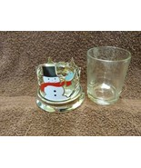 Bath & Body Works Christmas SnowMan Candle Holder Rare - $19.80