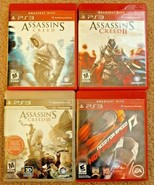 Lot 4 PS3 Game Bundle Assassin's Creed I II III & Need for Speed Hot Pur... - $24.74