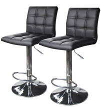 Modern Bar Stool 2 Pack Kitchen Leather Chair Pub Counter Swivel Seat Fu... - $102.02