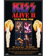 KISS Band ALIVE II Tour At The Chicago Stadium Jan 15,16 1978 Stand-Up D... - $15.99