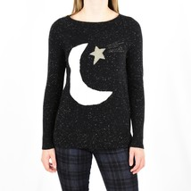 NWT Ann Taylor Loft L Large Moon & Stars Sweater Marled Flecked Boat Neck  - $26.99