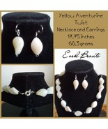 Yellow Aventurine Twist and Black Onyx Necklace and Earrings - New! - $35.00