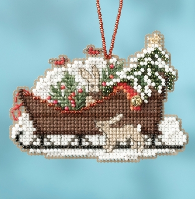 Woodland Sleigh 2017 Charmed Sleigh Ride Ornaments cross stitch kit  Mill Hil
