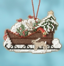 Woodland Sleigh 2017 Charmed Sleigh Ride Ornaments cross stitch kit  Mill Hil - $7.20