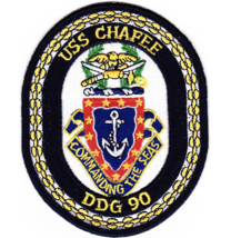 "5"" NAVY USS DDG-90 CHAFEE EMBROIDERED PATCH - $23.74"