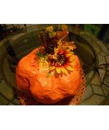 Handmade Fall Thanksgiving Paper Mache Table Decor Pumpkin - $22.00