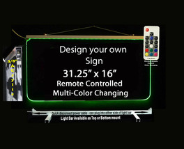 "Personalized LED Sign-Design your own Sign,  31.25"" x 16"" Multi-Color Ch... - $297.00"