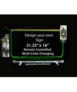 """Personalized LED Sign-Design your own Sign,  31.25"""" x 16"""" Multi-Color Ch... - $297.00"""