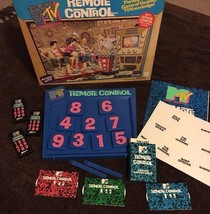 Vintage MTV Remote Control Board Game Trivia 1989 ~ Incomplete but most ... - $5.00