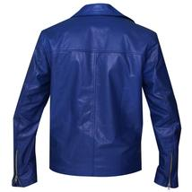 Jared Leto 30 Seconds to Mars Blue Motorcycle Synthetic Leather Jacket image 4