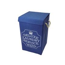 de luxe BLANCHISSERIE Bleu marin blanc transport rabattable sac panier 3... - $20.46