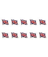"""Lotto di 10 Bandiera Britannica Spilla da Bavero 0.5 """" UK Union Jack Ing... - $12.85"""