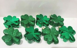 St Patrick's Day Shiny Glitter Green Shamrock Ornaments Decorations AS I... - $11.99